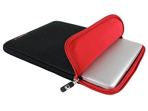 COOL BANANAS Shockproof Hülle passgenau für MacBook Pro Retina 15 Zoll | Sleeve | Tasche mit strapazierfähigem Nylonbezug | Perfekter Schutz durch Memory-Foam-Effekt | Ultra-leicht | Farbe Rot