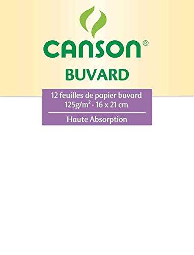 CANSON buvard 12 feuilles haute absoption 16x21cm