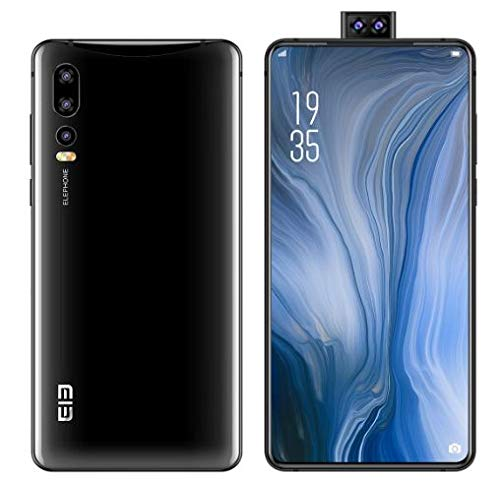 Elephone U2 Android 9.0 Smartphone ohne Vertrag 4G - 6,26 Zoll die 6. Generation All-Screen (Ultra-schmales Rahmendesign),16MP Popup-Frontkamera, Helio P70 Octa Core 6GB + 128GB Schwarz
