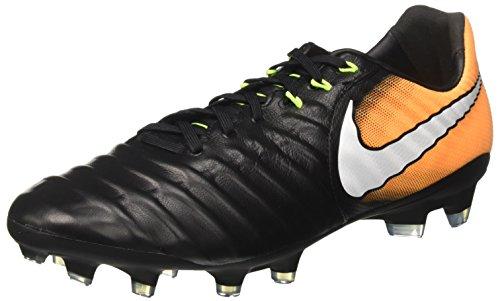 Nike Herren Tiempo Legacy Iii Fg Fußballschuhe, Schwarz (Black/white-laser Orange-volt), 41 EU