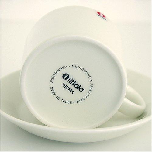 【正規輸入品】iittala(イッタラ)Teema(ティーマ)カップ&ソーサーホワイト220ml&15cm