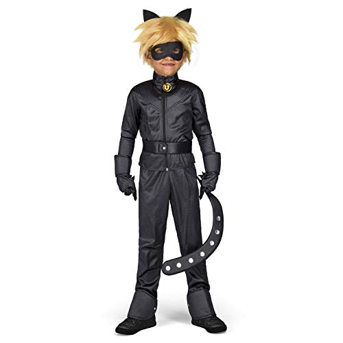 Yiija Fast Fun – Costume Cat Noir (Viving Costumes) 9-11 años Nero