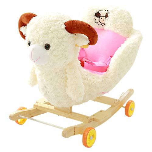 Cheval à bascule LINGZHIGAN en Bois Massif Musique Double Usage bébé Rocking Chair bébé Toy Cadeau