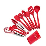 Silicone Cooking Utensil Kitchen Utensil Set, Non-Stick Cooking Utensils Spatula Set, Heat Resistant Kitchen Gadgets Tools Set for Cookware