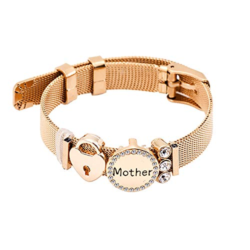 Watopi 1PC Mum Gift Bracelet for Women Lady Mothers Day Gift from Daughter Son Women Fashion Bracelet,Thanksgiving Gift for Mum