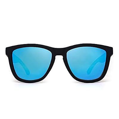 JIM HALO Retro Polarized Sunglasses for Women Men Vintage Square Mirror Glasses