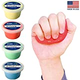 Crown Therapy Putty – Made in USA. Full Set of Hand Exercise Putty (4 Pack, 3 oz. Each) Hand Exercise...