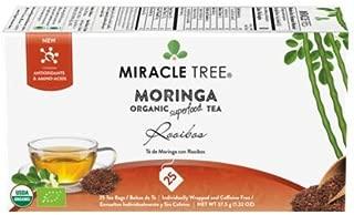 Miracle Tree - 6 Count of Organic Moringa Superfood Tea, 25 Individually Sealed Tea Bags, Rooibos