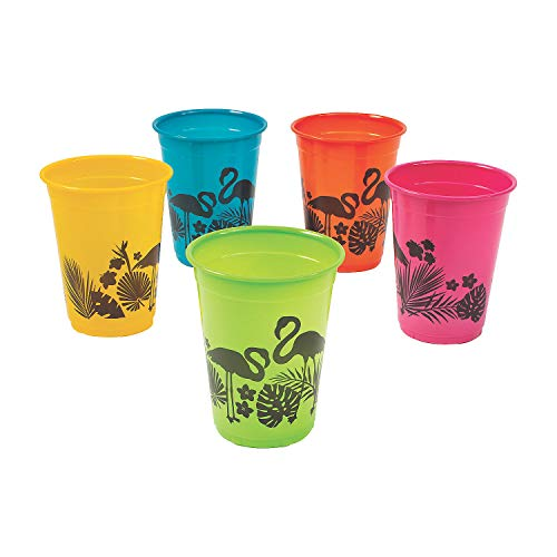 Best Review Of Tropical Nights Plastic Cups for Luau , Party Supplies , 50 Pieces