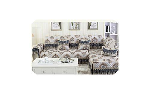 Black-Sky sofá Floral Creativa para la Cubierta Cubre sofá seccional sofá Cubierta Universal de los Protectores de Muebles sofá Fundas en Forma de L sofá, A, 80x180cm