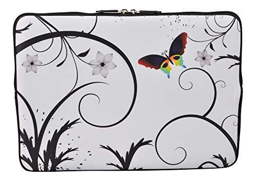 MySleeveDesign Laptoptas notebooktas Sleeve voor 10,2 inch / 11,6-12,1 inch / 13,3 inch / 14 inch / 15,6 inch / 17,3 inch - neopreen beschermhoes met verschillende Designs - Colored Butterfly [17]