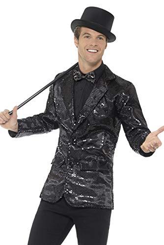 Smiffys Chaqueta de lentejuelas, negro, para hombre, L - Tamaño 42'-44' , color/modelo surtido