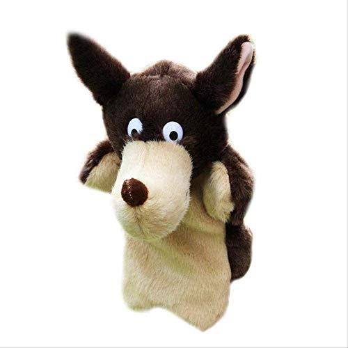 Animal Herramientas de jardín de infancia nuevo lobo del bebé niños marioneta de mano juega al bebé niños niño suave felpa de la muñeca de juguete de regalo Enseñanza Juguetes for decir de historia pr