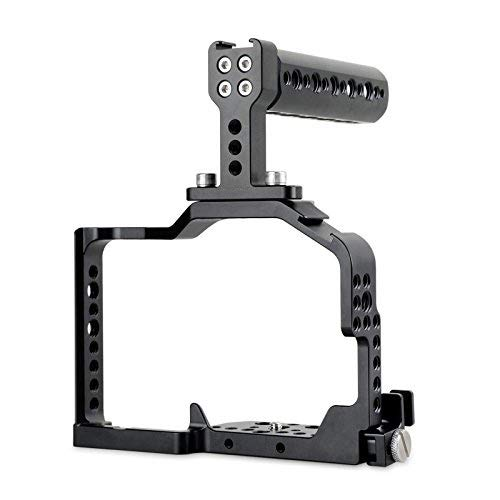SMALLRIG Camera Cage for Panasonic DMC-GH4 GH3,Cage Kit with Top Handle and HDMI Clamp-1980
