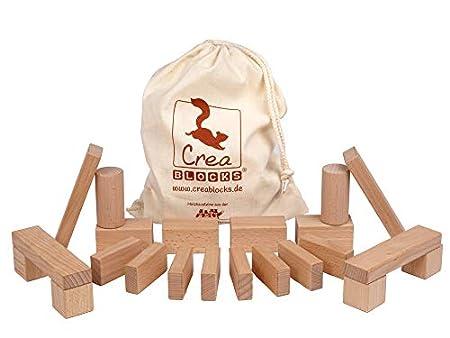 CreaBLOCKS Baby-Pack 22 unbehandelte Bauklötze