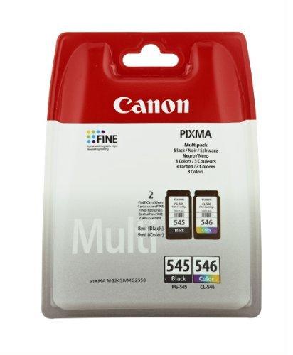 1 X Set XL originale Canon PG545 PG 545 CL546 CL 546 - Cartucce d'inchiostro – Nero + Color – per Pixma MG 2550