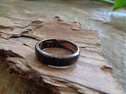⊹⊱❁ ANILLO DE COCO ESTRECHO ANILLO DE COCO ANILLO NATURAL ❁⊰⊹ Joyas naturales, anillo único, producto natural