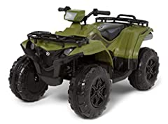 Yamaha Kodiak ATV ride-on toy by Kid Trax is perfect for backyard and driveway adventures. Seats one rider, ages 3 – 7 years old, with a maximum weight of 88 lbs Crank up the tunes with the FM radio and MP3 player input. Horn and engine sound effects...