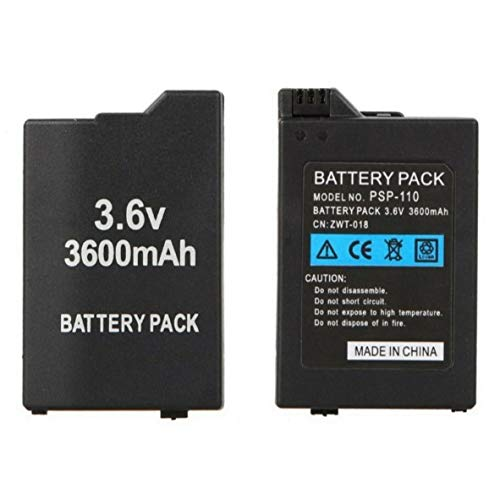 Desconocido Bateria para Sony PSP 2000 2001 2003 2004 200X / 3000 3001 3002 3003 3004 300X Slim 3600mAh 3.6V Modelo PSP-S360