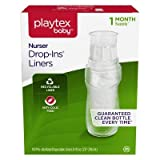 Playtex 55291217 8 oz Nurser Drop-Ins Baby Bottle Disposable Liners - 150 Count