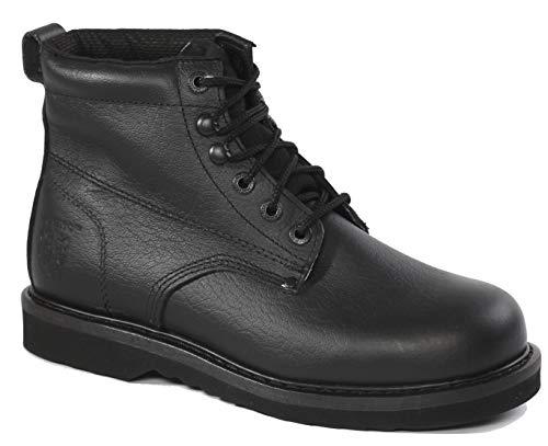 Rhino 61M21 6 inch Plain Toe Leather Work Boot - Black (8.5)