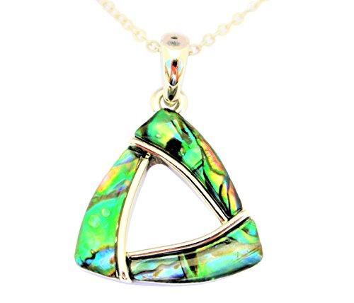 Paua/Abalone Muschel Triangel Kettenanhänger Kette aus Neuseeland