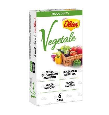 Older Dadi per Brodo Gusto Vegetale Senza Lattosio Senza Glutammato Aggiunto Senza Glutine Senza Olio di Palma - 1 Confezione x 64 Grammi