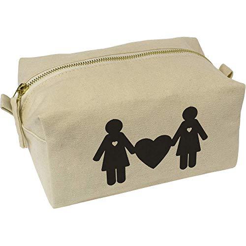 Azeeda 'Lesbian Couple' Canvas Wash Bag / Makeup Case (CS00011768)