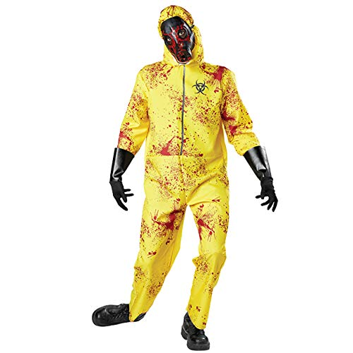 Neusky Herren Kostüm Perfektes Kostüm + Maske + die Handschuhefür Halloween, Weihnachten, Karneval oder Mottoparties(Rot-Gelb, XL【190-200cm】)