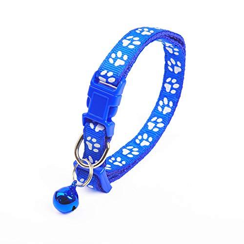 MOC Collar de gato ajustable, cierre rápido seguro, hebilla de seguridad con cascabel para gatos domésticos, perros pequeños, 1 pieza