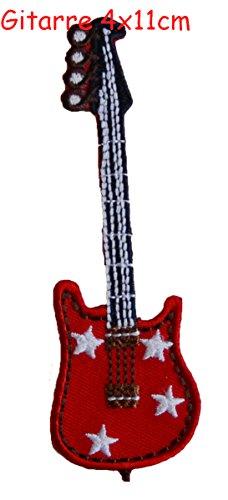 TrickyBoo 2 opstrijkbare gitaar 11X10cm ster jeans 7X7cm set applicatie patches voor het repareren van kinderkleding met design Zürich Zwitserland voor Duitsland en Oostenrijk