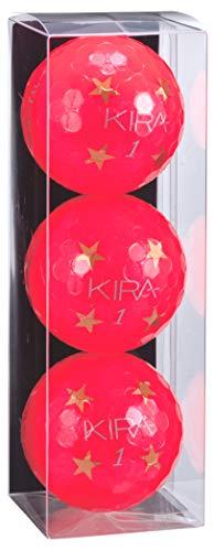 キャスコ(Kasco) ゴルフボール KIRA CRYSTAL キラクリスタル スターボール ユニセックス KIRA CRYSTAL スター レッド 最適ヘッドスピード:全領域(25~50) 4ピースボール: 2コア+2カバー