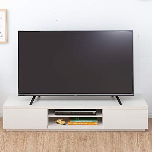 【32-65V型推奨】アイリスオーヤマテレビ台テレビボードローボード幅150cm奥行38.8cm高さ28.2cm32型43型オフホワイト扉付組み立て耐荷重40kgBAB-150