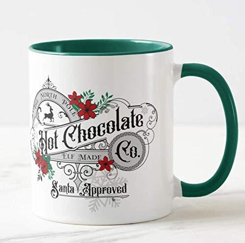 The North Pole Hot Chocolate Co. Christmas Coloured Mug...