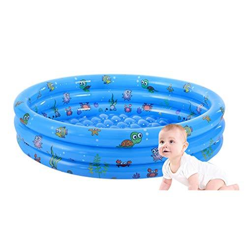 GJXJY Piscina Hinchable Familiar Redondo, Piscina Niños, Piscina Inflable Infantil Balcon,Jardín Al Aire Libre Piscina Infantil Azul 1.5m(4.9ft)-Blue