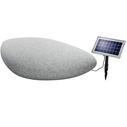 Esotec Solar Steinleuchte, Echtes Steindesign, Lichtfarbe wählbar 106066