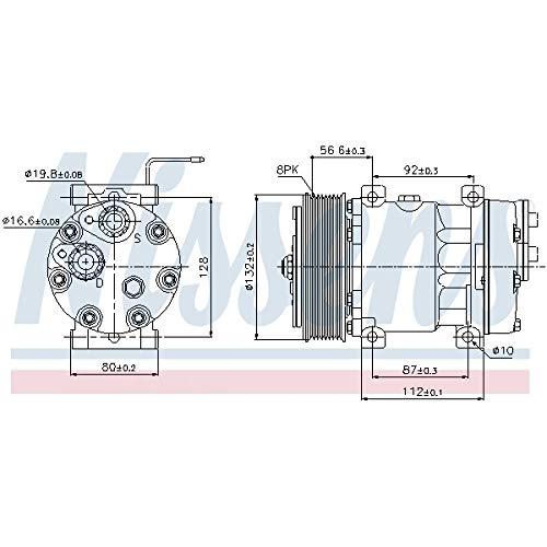 Nissens 89065 Compresor, aire acondicionado