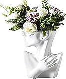 MOCOHANA Indoor Outdoor Head Planter Pot Ceramic Succulent Planter Vase Greek Statue Planter Urn Home Garden Decor Sculpture