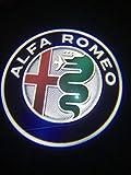 Alfa Romeo LED Light Logo Logo Light Light LED LED Light DE PURTUROS para Alfa Romeo 147 GT Todos los Modelos de automóviles (Emitting Color : C)