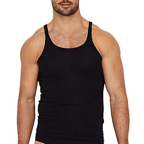 Hombres Básico Camiseta Interiores sin Mangas Camisetas de Tirantes Algodón