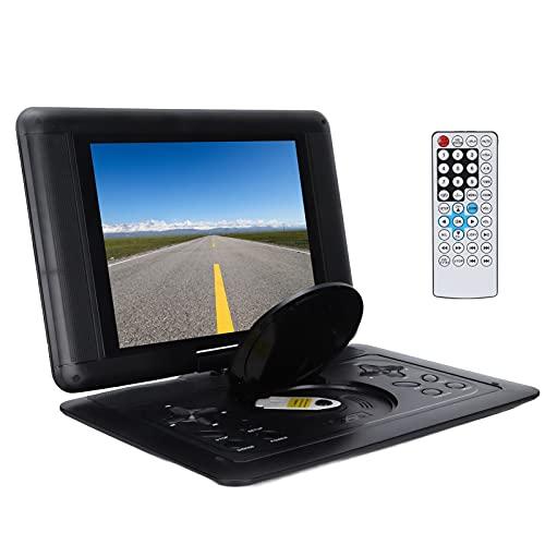 Reproductor De DVD Portátil De 12.0 Pulgadas, Pantalla De Rotación De 270 ° Reproductor De TV Pequeño Reproductor De DVD Portátil HD, Reproductor De DVD Móvil HD Adecuado para Personas(Negro)
