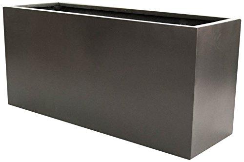 Pflanztrog Blumentrog Raumteiler Fiberglas rechteckig LxBxH anthrazit metallic 150x62x70cm