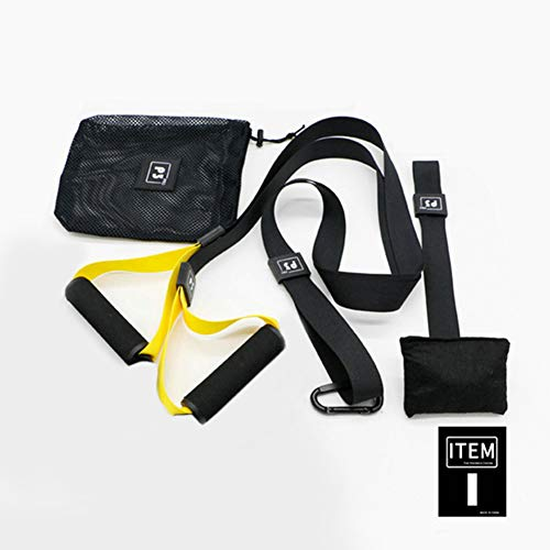 DIACLARA Bodyweight Fitness Resistance Kit Extension Strap for Door Pull Up Bar, Powerlifting Strength Training Kit Straps Home Gym Exercise Full-Body Workout Equipment(P3-1)(Yellow)