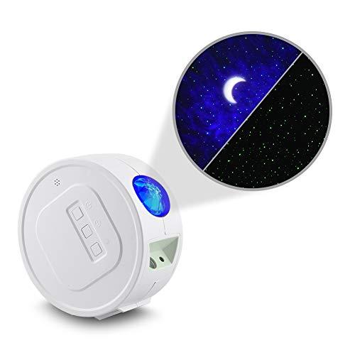 YIKANWEN Sternenhimmel-Projektor, Mond Nebel Wolken Projektor, Sternenprojektor für Kinder Schlafzimmer Dekoration oder Camping (akkubetrieben), weiß