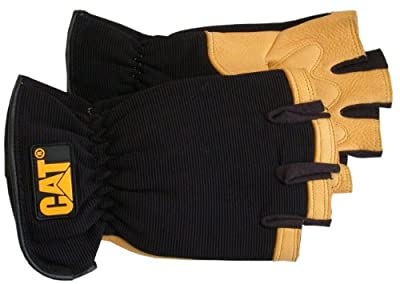 CAT Half Finger Premium Deerskin Palm and Index Finger Glove