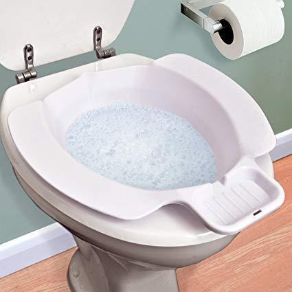OrtoPrime Bidet Portátil Wc | Bidé Sanitario Acoplable al Inodoro | Medidas Universales: 40 x 37 x 11 Centímetros | Peso soportado 120 Kilogramos