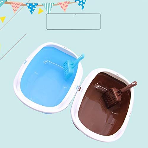LoveOlvidoD Halbgeschlossene Katzensandschale blau Täglich Werden Haushaltsprodukte für Gesundheits- und Schönheitspflegeprodukte geliefert