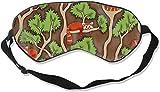 Antifaz para dormir, diseño de oso alkane rojo impreso, con correa para la cabeza, ajustable, para mujer, hombre, noche, para dormir, viajar, siesta