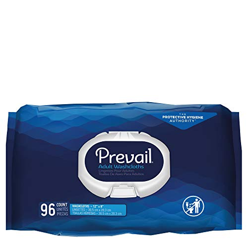 Prevail Incontinence Washcloths, Softpack, 96 Count (Pack of 6 (576 Count))