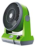 AnywhereFan Portable Camping Cordless Personal Desk Fan Powerful Adjustable Cooling Indoor Outdoor Fan 10' Inch 13 Watt Personal Home Office Fan Cooling Pet Crate Fan (Battery NOT Included)